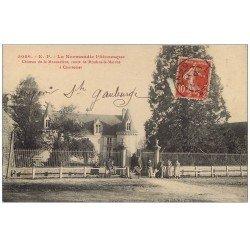 carte postale ancienne 61 COURTOMER. Château de la Morandière Route de Moulins-la-Marche 1911