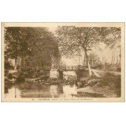 carte postale ancienne 61 COUTERNE. Lot 6 Cpa. Rameurs sous le Pont et Château....
