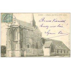 carte postale ancienne 61 EXMES. L'Eglise 1905