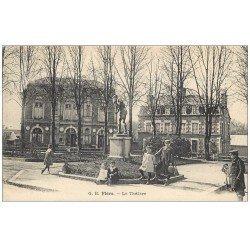carte postale ancienne 61 FLERS. Le Théâtre