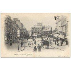 carte postale ancienne 61 FLERS. Place Gambetta 1903