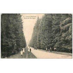 carte postale ancienne 61 FORET DE BELLEME. Route de Mortagne. dans l'état...
