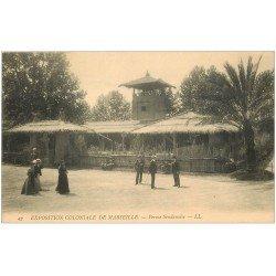 carte postale ancienne 13 MARSEILLE. Ferme Soudanaise . Exposition Coloniale