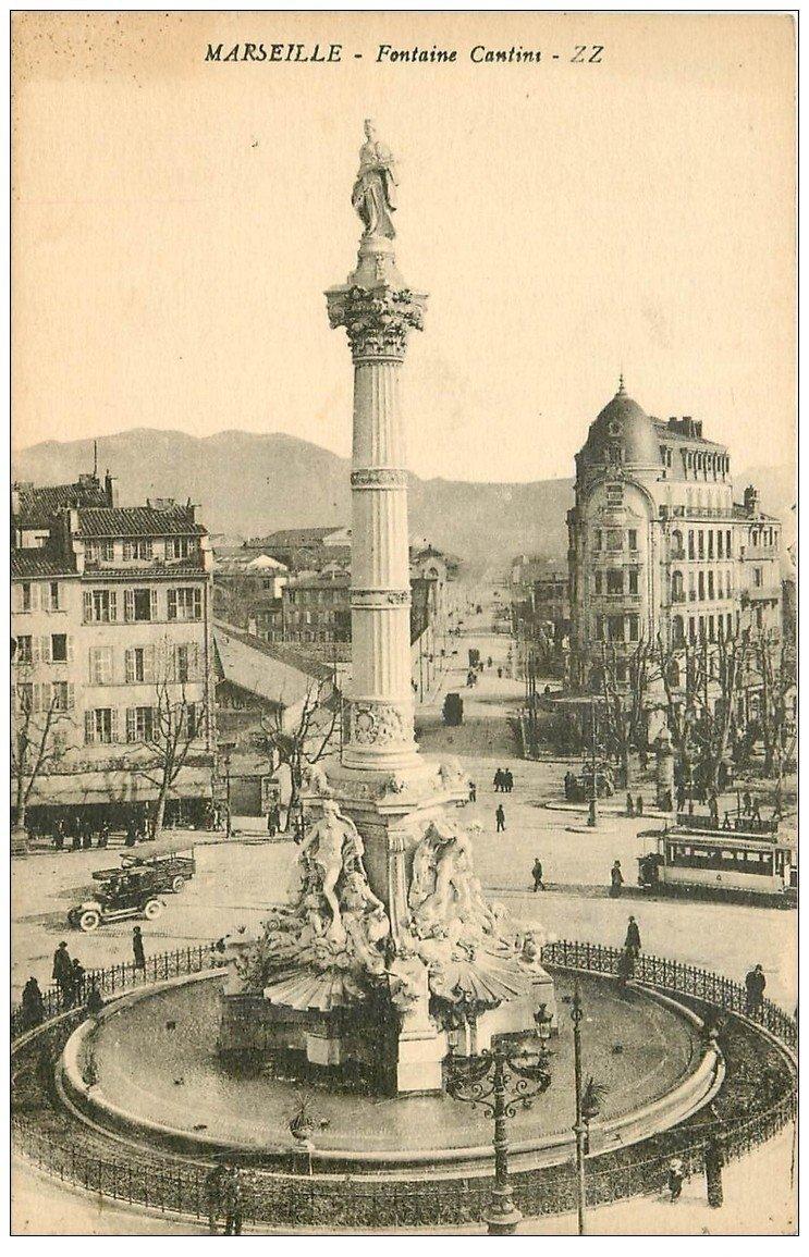 carte postale ancienne 13 MARSEILLE. Fontaine Cantini