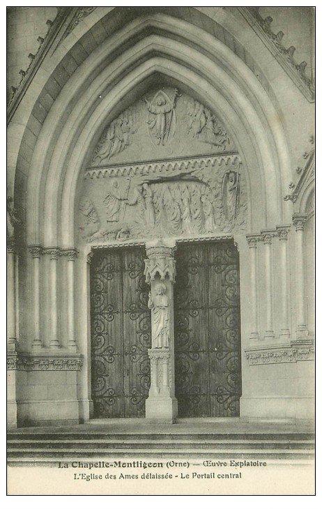 61 la chapelle montligeon l 39 eglise portail. Black Bedroom Furniture Sets. Home Design Ideas