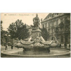 carte postale ancienne 13 MARSEILLE. Fontaine Estrangin 1912