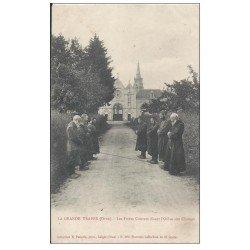 61 LA GRANDE TRAPPE. 3 Cpa. Eglise Grand'Messe, Cloître et Tombeau des Abbés + 1 Cpa déliassée en cadeau Frères Converts