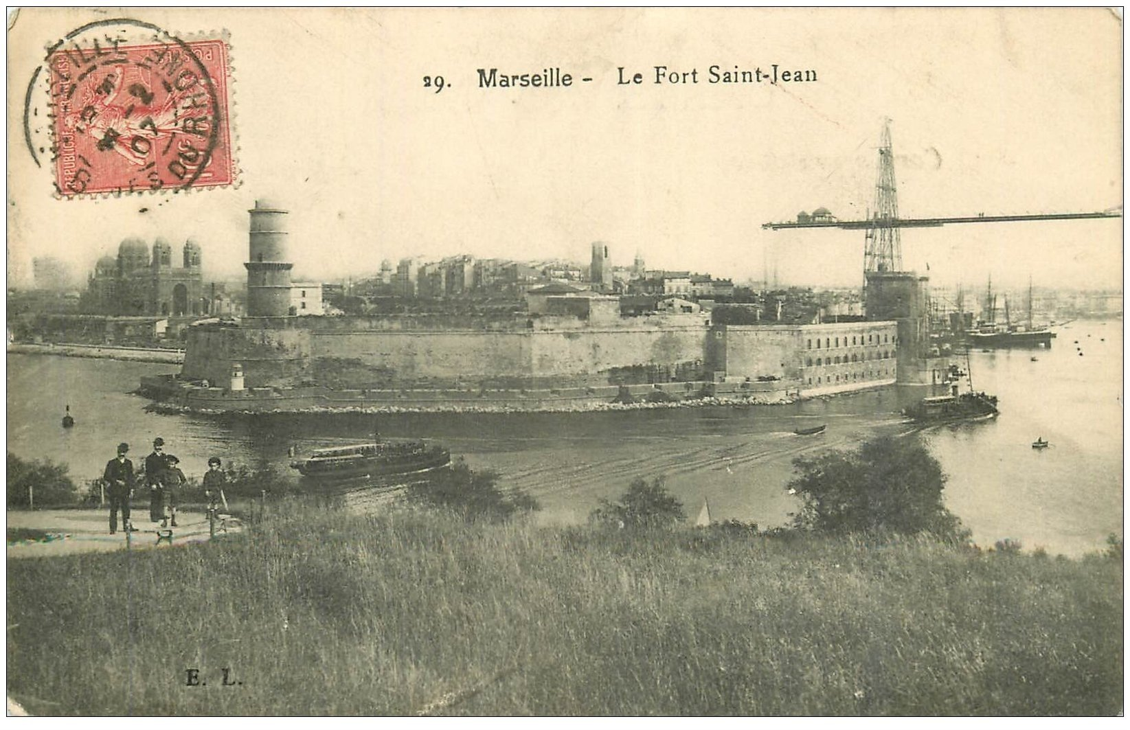 carte postale ancienne 13 MARSEILLE. Fort Saint-Jean 1907