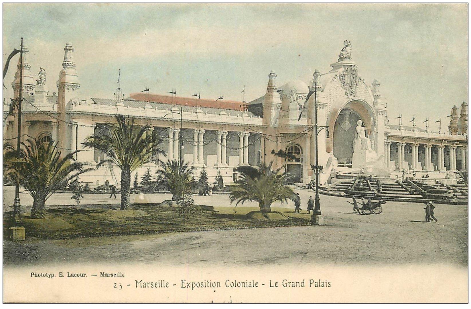 carte postale ancienne 13 MARSEILLE. Grand Palais . Exposition Coloniale