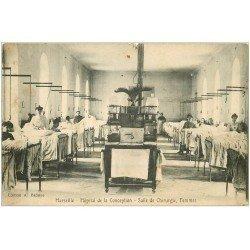 carte postale ancienne 13 MARSEILLE. Hôpital de la Conception. Salle de Chirurgie Femmes