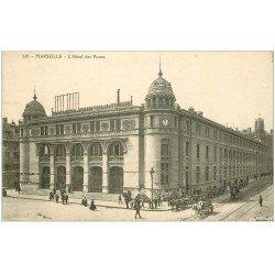 carte postale ancienne 13 MARSEILLE. Hôtel des Postes