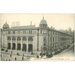 carte postale ancienne 13 MARSEILLE. Hôtel des Postes et Télégraphes