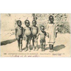 carte postale ancienne 13 MARSEILLE. Jeunes Sénégalais . Exposition Coloniale