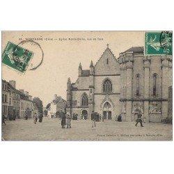 carte postale ancienne 61 MORTAGNE Lot 10 Superbes Cpa. Eglise, Baraquements, Hôtel de Ville, Halles Théâtre, Route de Paris...