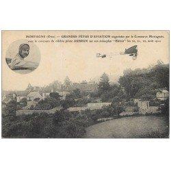 carte postale ancienne 61 MORTAGNE Lot 10 Superbes Cpa. Maison Henri IV, Hôtel Fontenay, Jeu de Paume, Aviateur Aubrun...