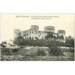 carte postale ancienne 02 COUCY-LE-CHATEAU. Les Remparts