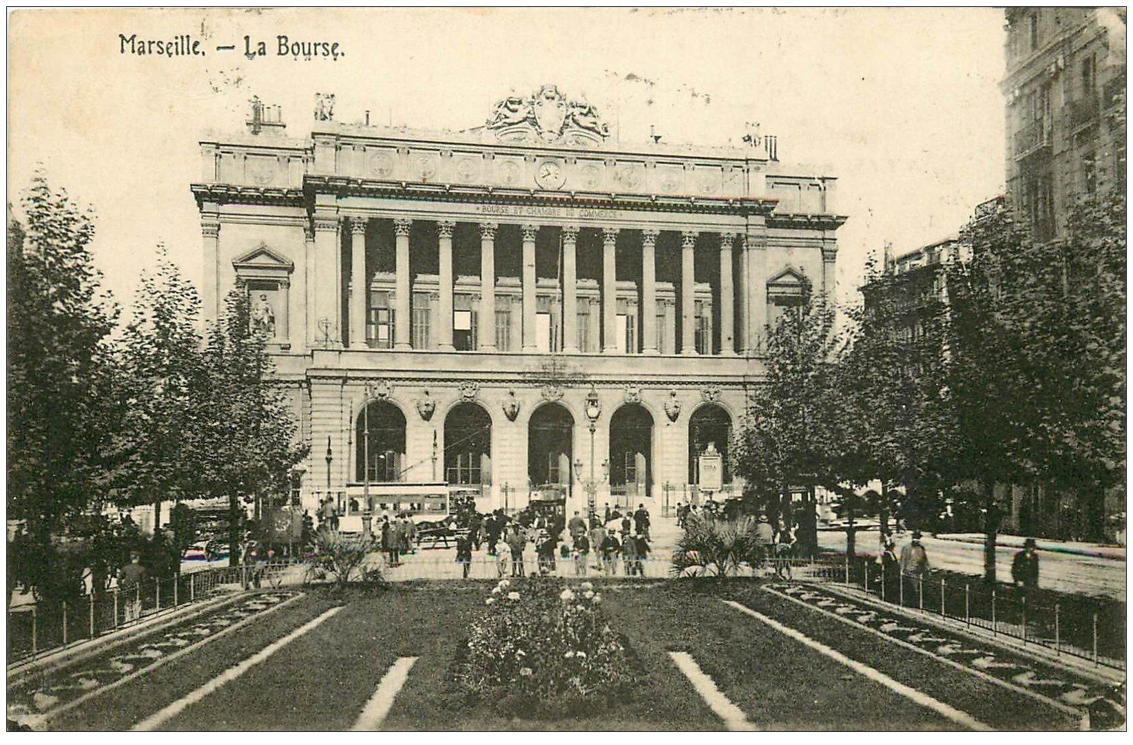 carte postale ancienne 13 MARSEILLE. La Bourse 1922