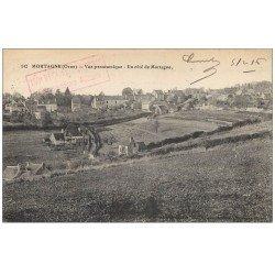 carte postale ancienne 61 MORTAGNE. Le Village vue panoramique 1916