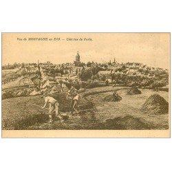 carte postale ancienne 61 MORTAGNE. Paysan côté Rue de Paris