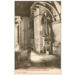 carte postale ancienne 61 MORTAGNE. Statue Cloître Hospice