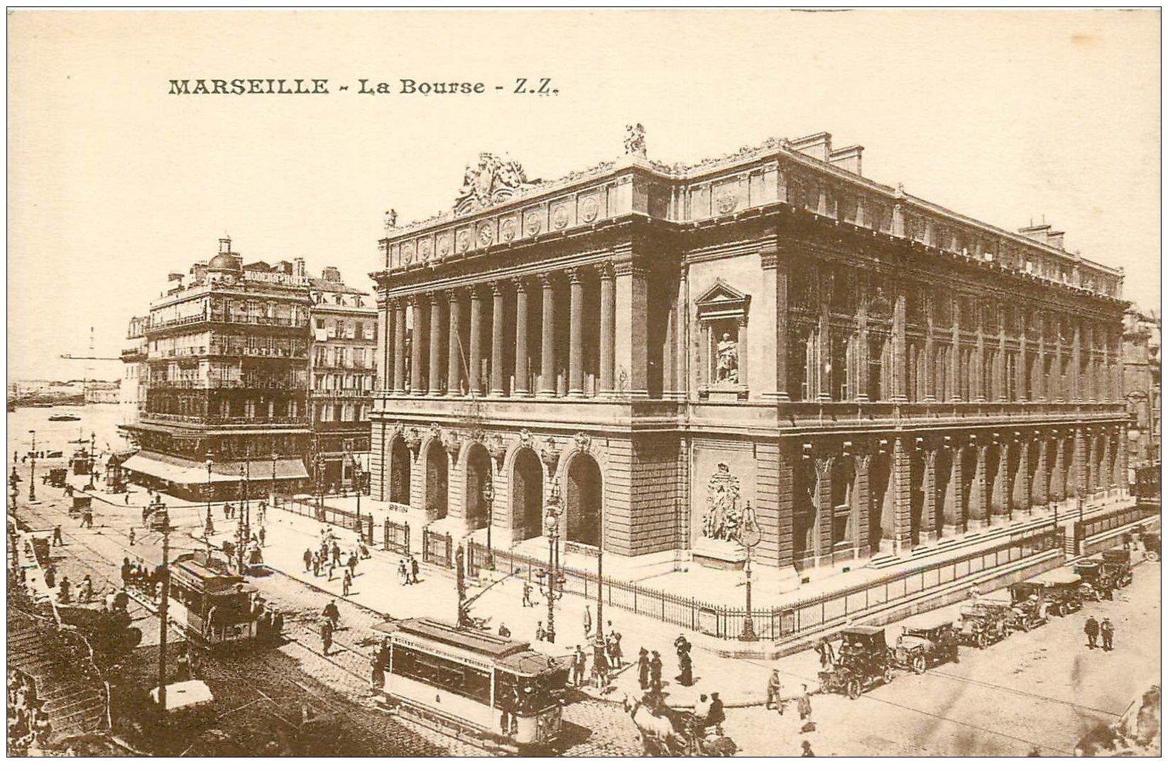 carte postale ancienne 13 MARSEILLE. La Bourse Palais Z.Z