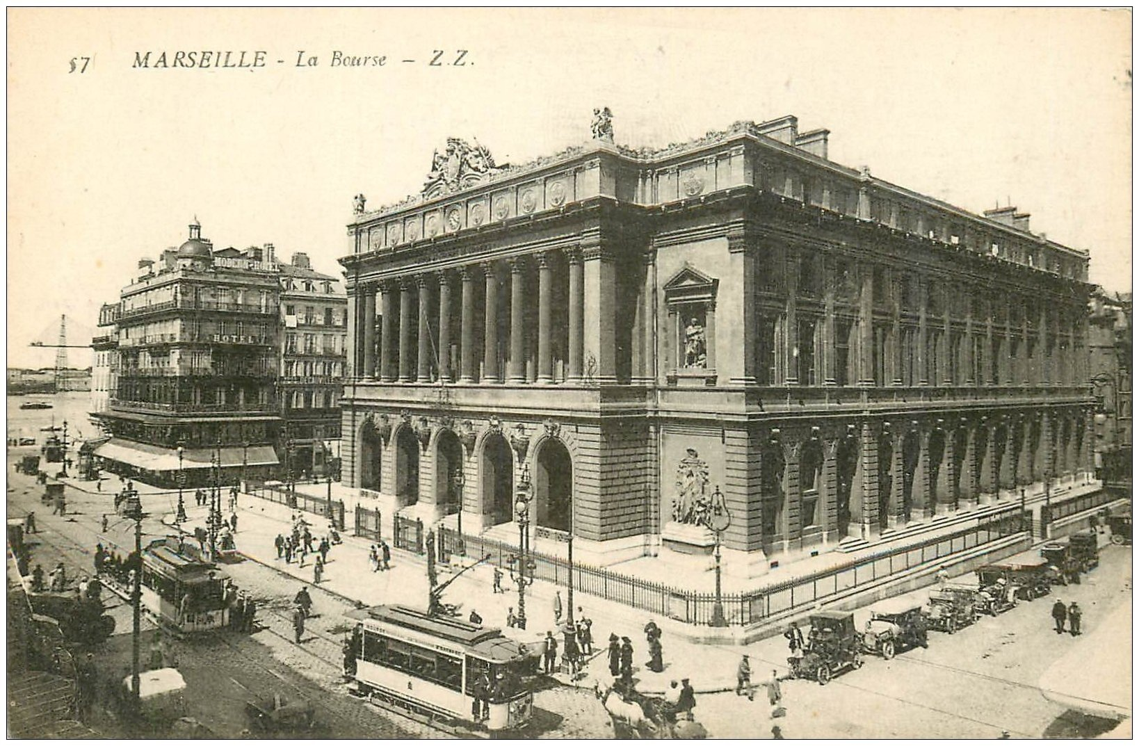 carte postale ancienne 13 MARSEILLE. La Bourse Palais 57