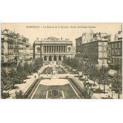 carte postale ancienne 13 MARSEILLE. La Bourse Square