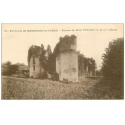carte postale ancienne 61 RUINES DU BOIS THIBAULT
