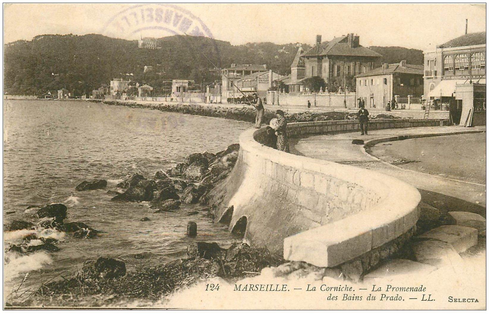 13 MARSEILLE. La Corniche Bains Prado 1915