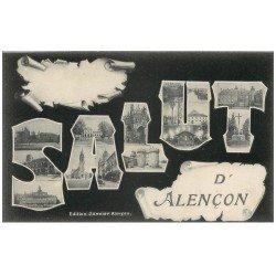 carte postale ancienne Superbe Lot 10 Cpa 61 ALENCON. Barrage, Palais Justice, Calvaire Place Pyramide, Pont Neuf etc...