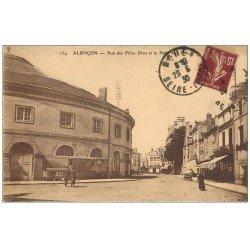 Superbe Lot 10 Cpa 61 ALENCON. Cavalerie Quartier Valazé, Pont, Halle aux Blés Rue Filles Dieu, Dentelle...
