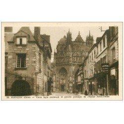 carte postale ancienne Superbe Lot 10 Cpa 61 ALENCON. Château, Eglise, Maison d'Ozé, Calvaire, Hôtel de Ville, Préfecture etc...
