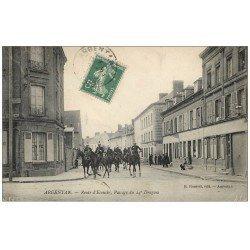 carte postale ancienne Superbe Lot 10 Cpa 61 ARGENTAN. 24° Dragons Route Ecouché, Caserne, Statue Poète Levavasseur etc...