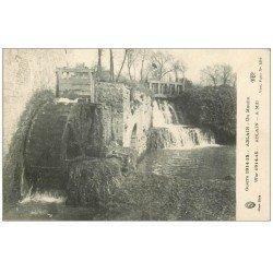 carte postale ancienne 62 ABLAIN. Un Moulin. Publicité lessive La Croix et javel Cotelle-Croix