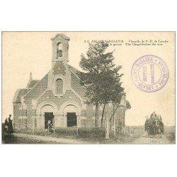 carte postale ancienne 62 ABLAIN-SAINT-NAZAIRE. Chapelle Notre-Dame de Lorette 1924 animation