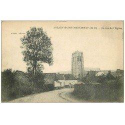 carte postale ancienne 62 ABLAIN-SAINT-NAZAIRE. Rue de l'Eglise