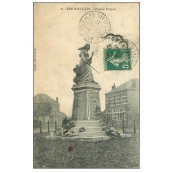 carte postale ancienne 62 AIRES-SUR-LA-LYS. Souvenir Français 1912