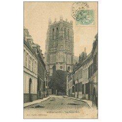 carte postale ancienne 62 AIRES-SUR-LA-LYS. Tour Saint-Pierre 1906