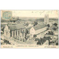carte postale ancienne 62 AIRES-SUR-LA-LYS. Vue générale 1905