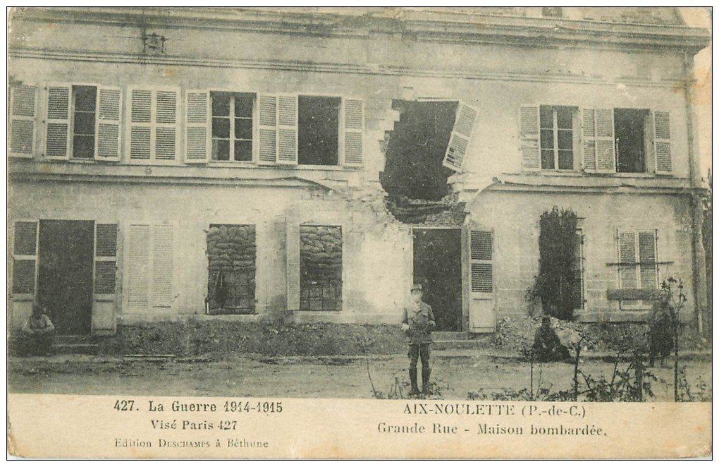 62 aix noulette grande rue guerre 1914 18. Black Bedroom Furniture Sets. Home Design Ideas