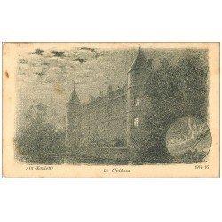 carte postale ancienne 62 AIX-NOULETTE. Le Château 1918. D'après illustrateur