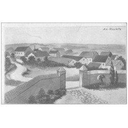 carte postale ancienne 62 AIX-NOULETTE. Le Village d'après dessin allemand