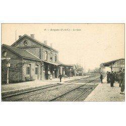 carte postale ancienne 62 ARQUES. La Gare