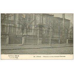 carte postale ancienne 62 ARRAS. Boulevard Faidherbes 1916