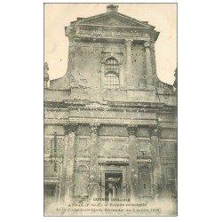 carte postale ancienne 62 ARRAS. Cathédrale bombardée
