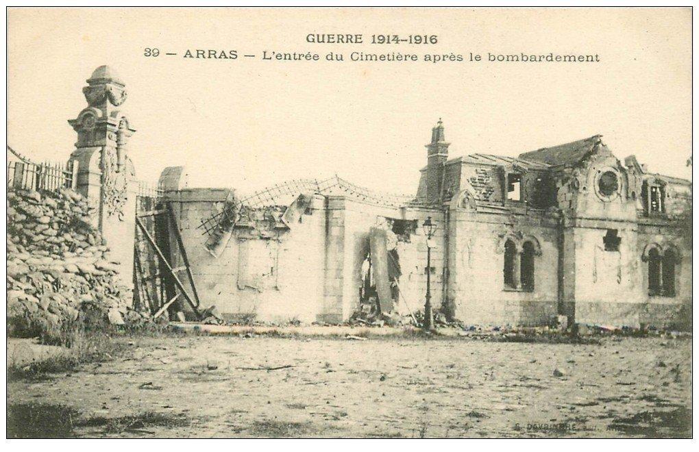 carte postale ancienne 62 ARRAS. Cimetière