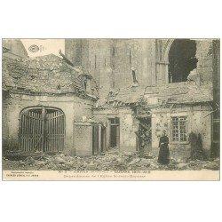 carte postale ancienne 62 ARRAS. Dépendances Eglise Saint-jean-Baptiste