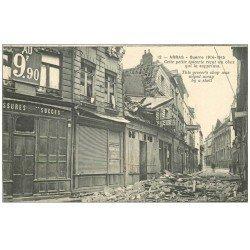 carte postale ancienne 62 ARRAS. Epicerie qui reçut un obus