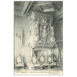 carte postale ancienne 62 ARRAS. Hôtel de Ville. Cheminée 1908