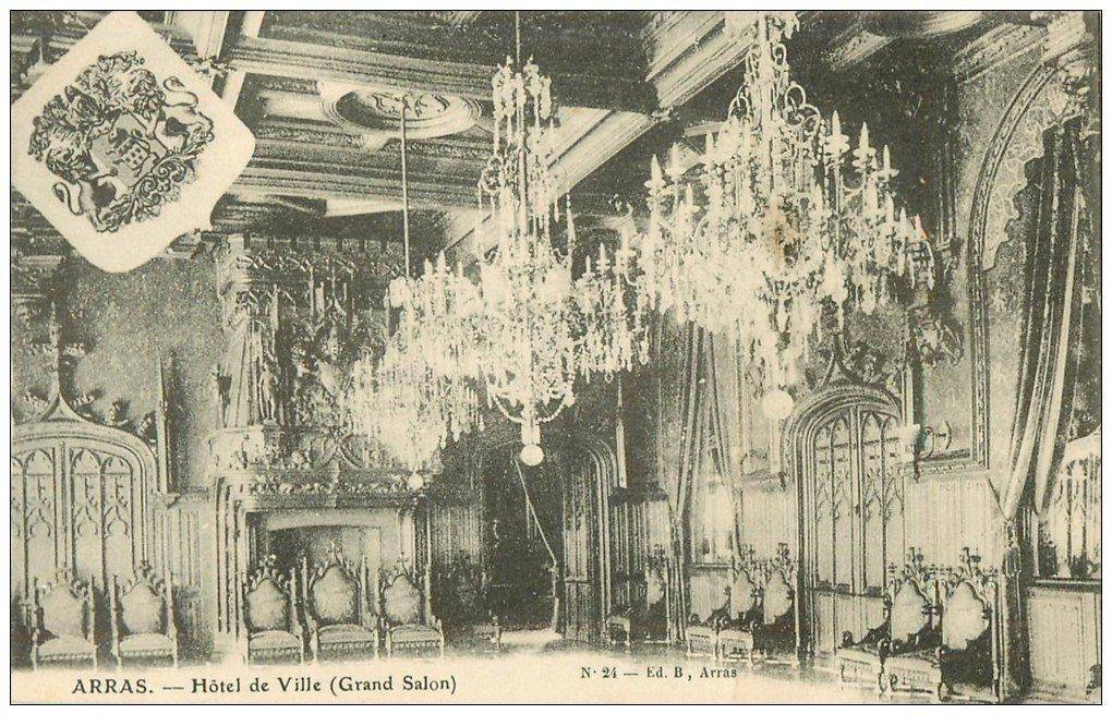 carte postale ancienne 62 ARRAS. Hôtel de Ville. Grand Salon